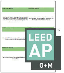 LEED O+M Flash Cards
